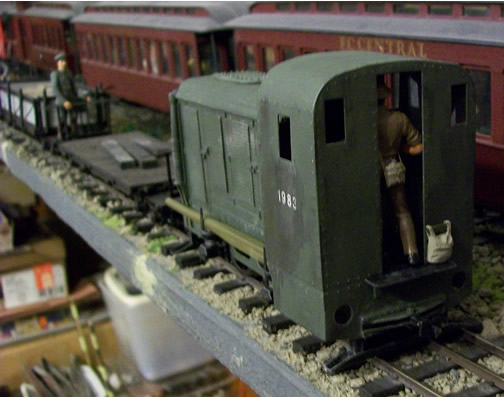 Image of an unpainted Dick Kerr Petrol Electrric in 16mm Scale