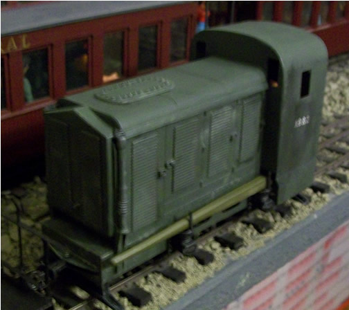 Image of a painted Dick Kerr Petrol Electrric in 16mm Scale